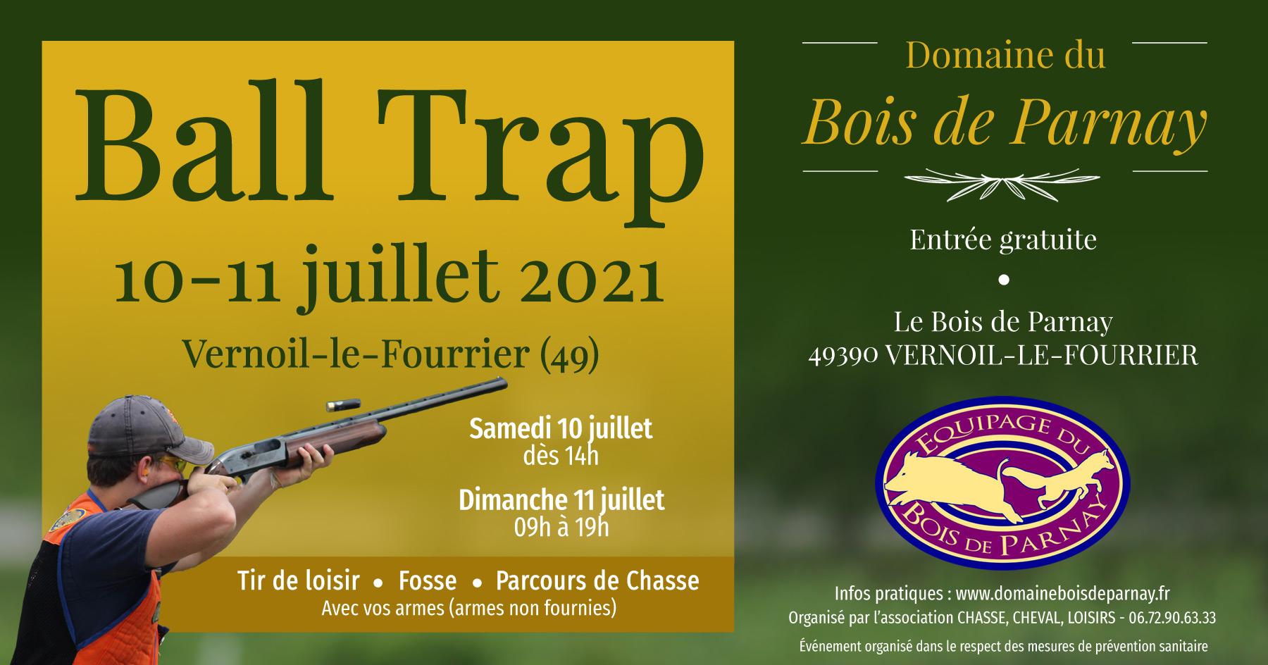Ball Trap les 10-11 juillet 2021 à Vernoil le Fourrier